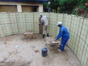 The Water Project:  Interior Cement Work Begins