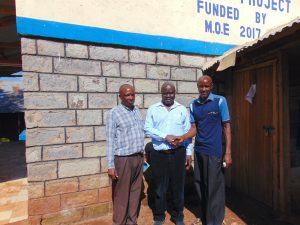 The Water Project:  Mr Mahelo With Board Members