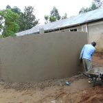 The Water Project: Mukama Primary School -  Outer Plaster Work