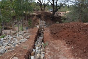 The Water Project:  Filling Wing Wall Trenches