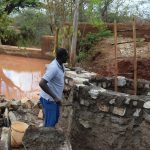 The Water Project: Utuneni Community B -  Water Builds Up Behind Dam As Well Construction Continues