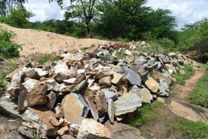 The Water Project:  Rocks For Dam Construction
