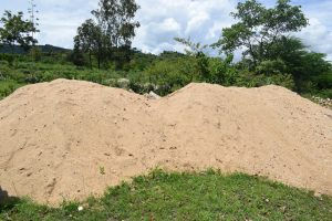 The Water Project:  Sand For Cement Mixing