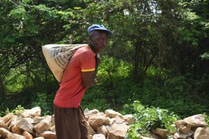The Water Project:  Carrying Cement