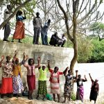 The Water Project: Kaketi Community -  Celebrating At The New Dam