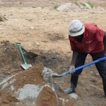 The Water Project: Kaketi Community A -  Mixing Cement