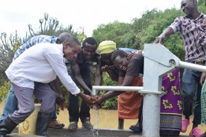 The Water Project:  Water At The New Well