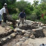 The Water Project: Kaketi Community A -  Working On Well Walls