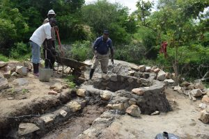 The Water Project:  Working On Well Walls