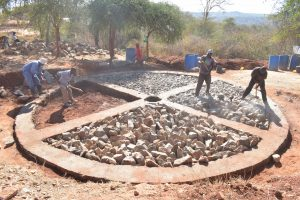 The Water Project:  Construction Of Foundation