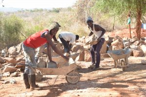 The Water Project:  Loading Up Rocks For Construction