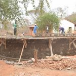 The Water Project: AIC Mbao Primary School -  Tank Wall Under Construction