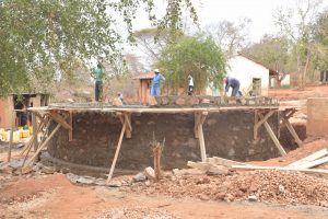 The Water Project:  Tank Wall Under Construction