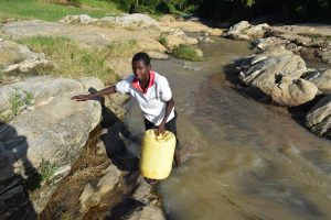 The Water Project:  Carrying Container Filled With Water