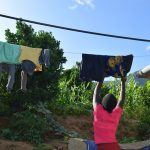 The Water Project: Yumbani Community A -  Hanging Clothes On The Line