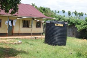The Water Project:  Small Rainwater Tank