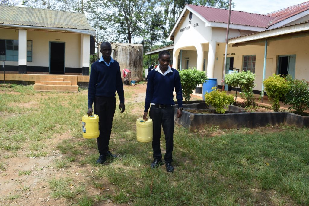 The Water Project : kenya20350-students-carrying-water