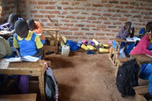 The Water Project:  Water Containers In The Back Of Class