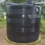 The Water Project: Ndithi Primary School -  Small Rainwater Tank