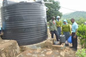 The Water Project:  Collecting Water At Small Tank