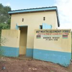 The Water Project: Mutwaathi Secondary School -  Girls Latrines