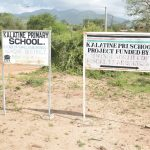 The Water Project: Kalatine Primary School -  School Sign
