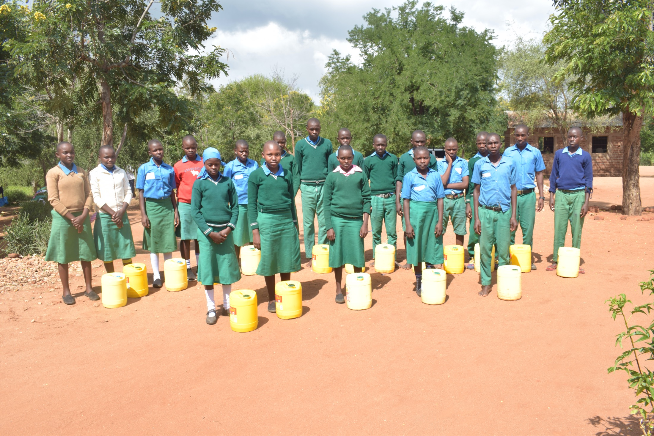 The Water Project : kenya20361-students-holding-water-containers