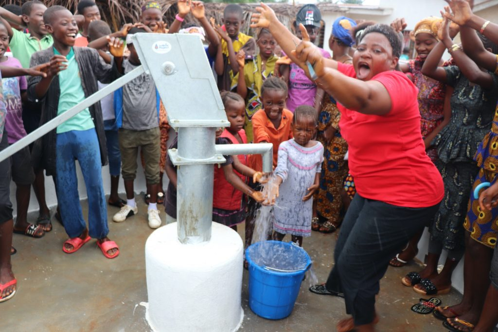 The Water Project : sierraleone19259-dancing-and-celebration-at-the-well