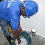 The Water Project: Transmitter, #14 Port Loko Road -  Mixing The Chlorine