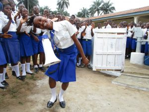 The Water Project:  Head Girl Sings At The Dedication
