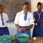The Water Project: Lokomasama, Musiya, Nelson Mandela Secondary School -  Student Handwashing Demonstration