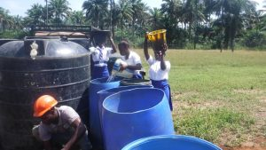 The Water Project:  Students Fetch Water For The Construction Workers