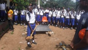 The Water Project:  Students Help Break Ground For The New Well