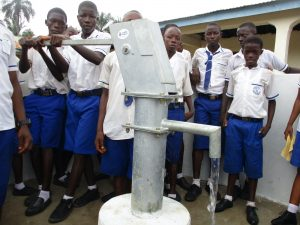 The Water Project:  Students Pump The Well