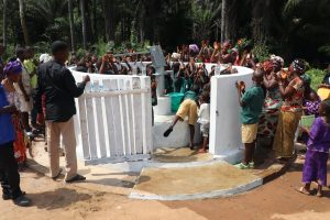 The Water Project:  People Gathered At The New Well