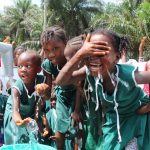 The Water Project: Lokomasama, Bompa, DEC Bompa Primary School -  Playing In The Water