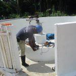 The Water Project: Lokomasama, Bompa, DEC Bompa Primary School -  Pump Installation