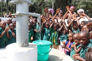 The Water Project:  Pupils Singing And Celebrating The Well