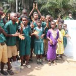 The Water Project: Lokomasama, Bompa, DEC Bompa Primary School -  Students Celebrate At Their New Well