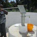 The Water Project: Lokomasama, Bompa, DEC Bompa Primary School -  Testing Pump After Installation
