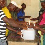 The Water Project: Lokomasama, Bompa, DEC Bompa Primary School -  Tippy Tap Construction