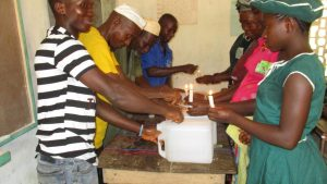 The Water Project:  Tippy Tap Construction