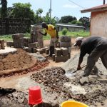 The Water Project: Lungi, Rotifunk, 1 Aminata Lane -  Pad Construction