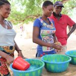 The Water Project: Lungi, Yaliba Village -  Handwashing Demonstration