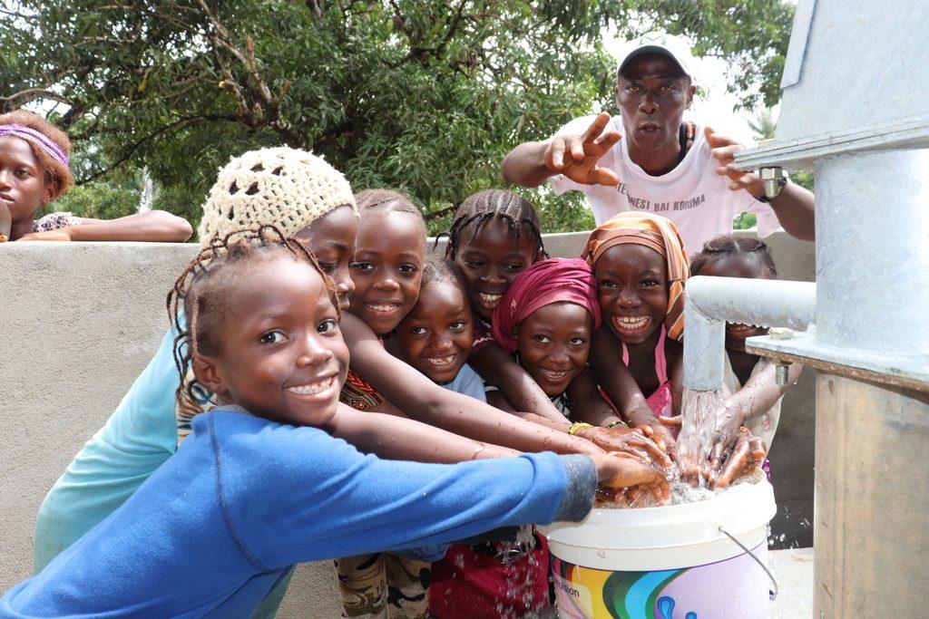 The Water Project : sierraleone19275-kids-celebrate-2