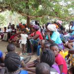 The Water Project: Lungi, Yaliba Village -  People Listen To Training Facilitator
