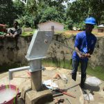 The Water Project: Lungi, Yaliba Village -  Testing Well After Installing The Pump