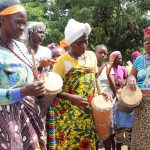 The Water Project: Lungi, Yaliba Village -  Women Beating Drums