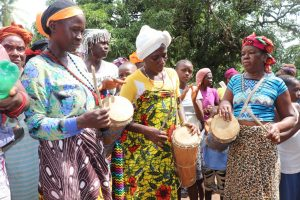 The Water Project:  Women Beating Drums