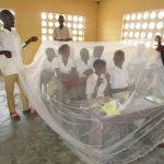 The Water Project: Lungi, Komkanda Memorial Secondary School -  Bednet Demonstration